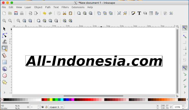 Siapkan desain di aplikasi Inkscape