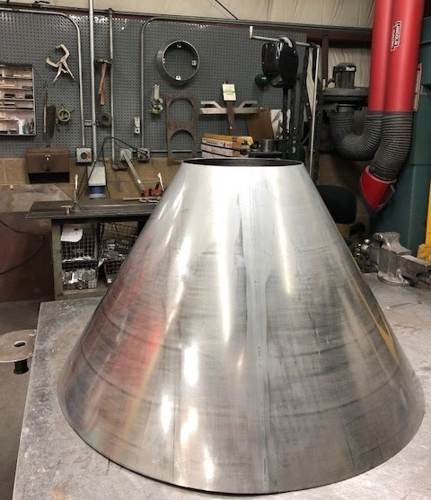 E H Schwab Blog Rolling A Cone Out Of 14 Gauge 0781 Thick Stainless Steel Sheet Metal