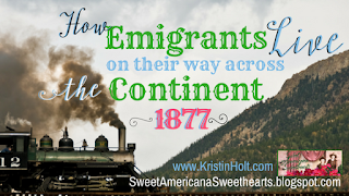 Kristin Holt | How Emigrants Live on their way across the Continent ~ 1877