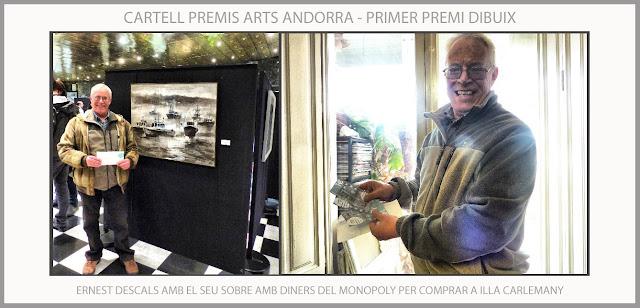 ANDORRA-PREMIS-CARTELL-ARTS-PREMI-DIBUIX-COMPRES-ILLA CARLEMNAY-ARTISTA-PINTOR-ERNEST DESCALS