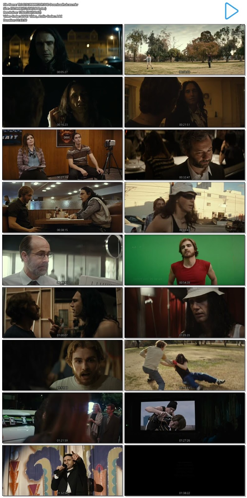 The Disaster Artist 2017 English 720p HEVC BRRip ESubs