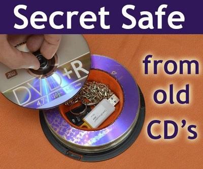 Wadah rahasia dari CD bekas