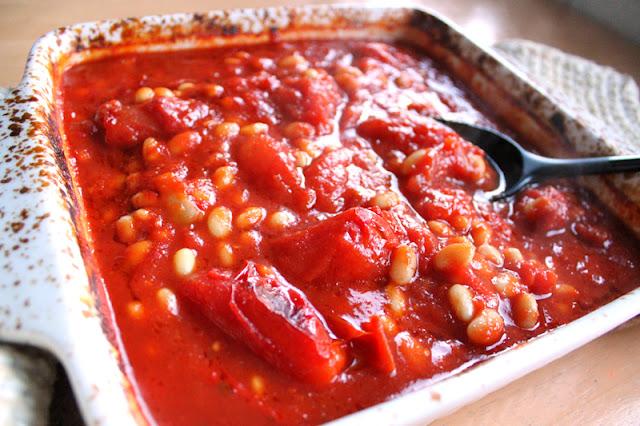 Oppskrift Bakte Tomatbønner Hjemmelaget