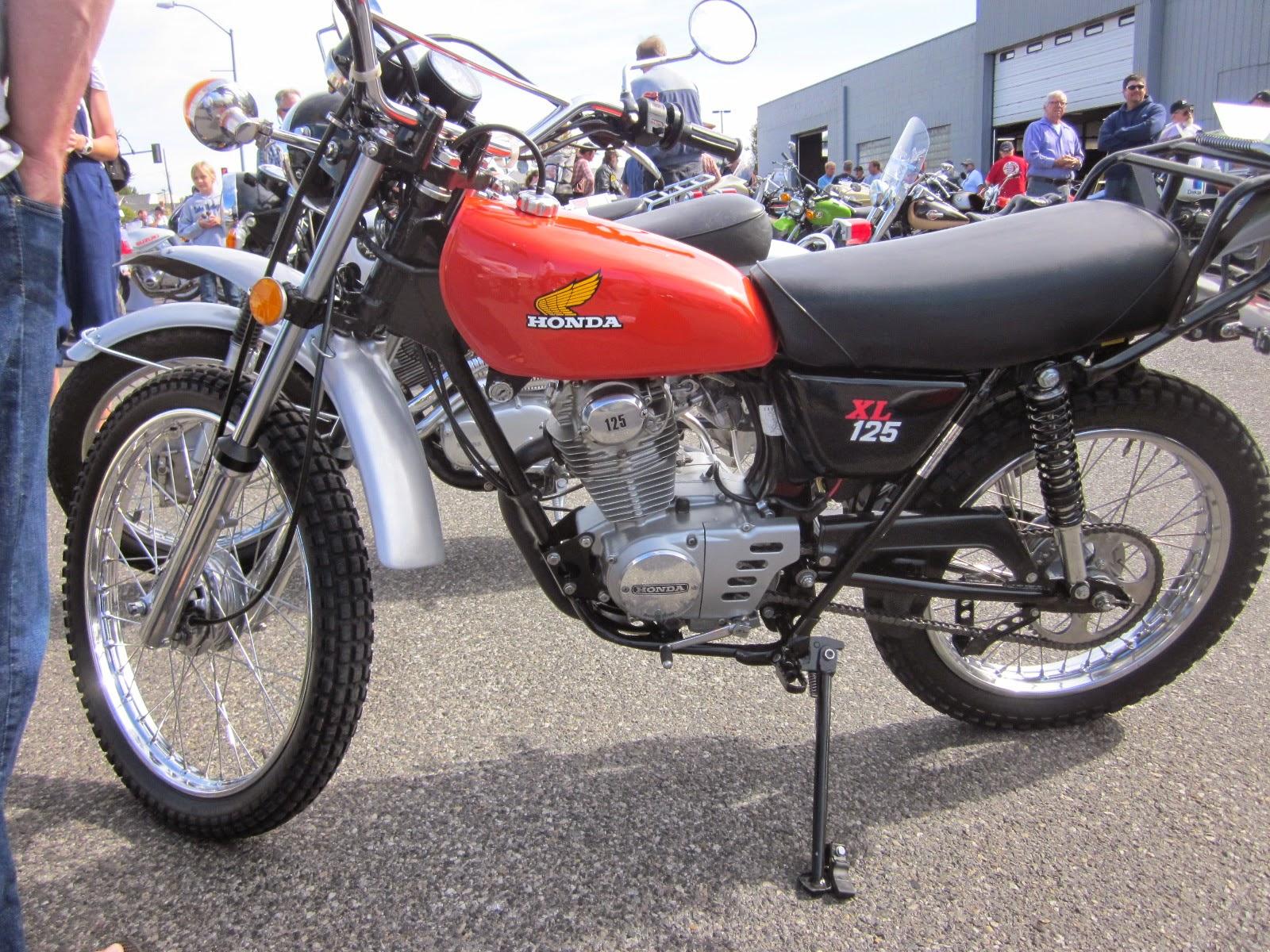 oldmotodude 1975 honda xl125 on display at the 2014 retro riders vintage motorcycle show. Black Bedroom Furniture Sets. Home Design Ideas