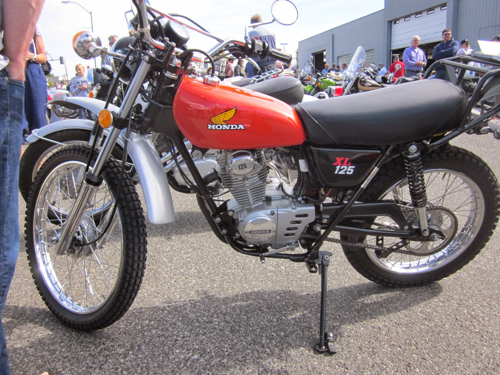 oldmotodude 1975 honda xl125 on display at the 2014 retro. Black Bedroom Furniture Sets. Home Design Ideas