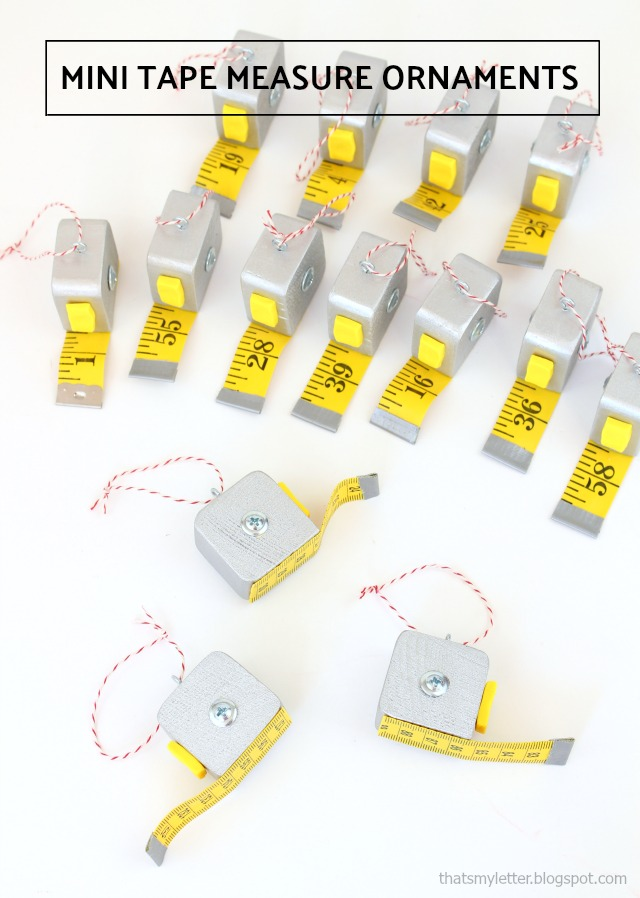 mini tape measure ornament