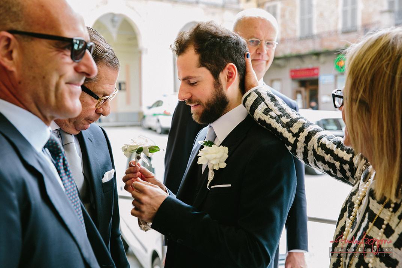 bottoniera testimoni matrimonio