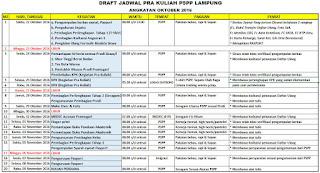 Jadwal Pra Kuliah PSPP Lampung