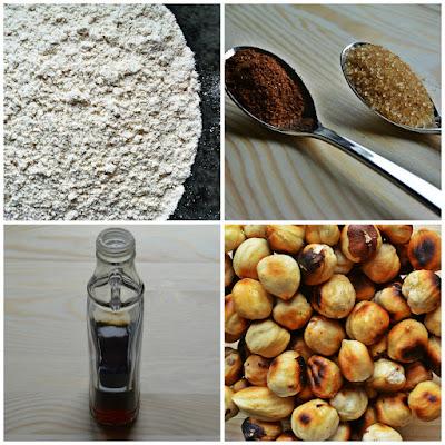 Chleb piernikowy z orzechami laskowymi - składniki