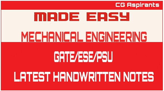 MADE EASY EXTRA LATEST MADE EASY HANDWRITTEN NOTES NOTES MECHANICAL