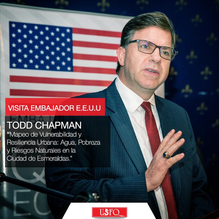Visita Embajador E.E.U.U en la USFQ. Mapeo de Vulnerabilidad y Resiliencia Urbana: Agua, Pobreza y Riesgos Naturales en la Ciudad de Esmeraldas.