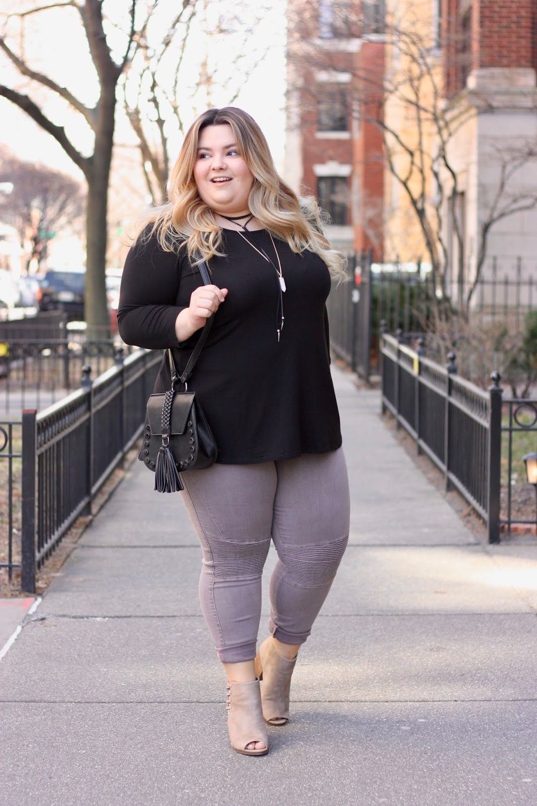 full figured fashion, off your beauty standards, refinery 29, stitch fix, stitch fix blogger review, plus size skinny jeans motto, plus size open back blouses, natalie craig, Natalie in the city, plus size fashion blogger, chicago blogger, curvy girl chic, plus model magazine, petite plus size fashion, body positivity