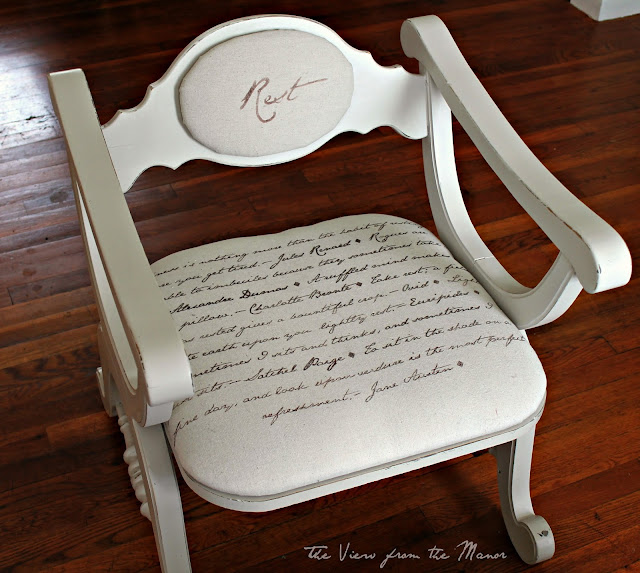 Script Chair Makeover by View from the Manor