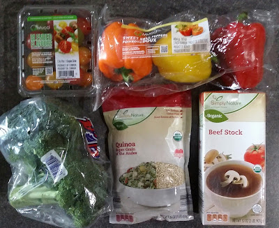 Ingredients for Healthy and Budget Friendly Rainbow Veggie Quinoa Salad