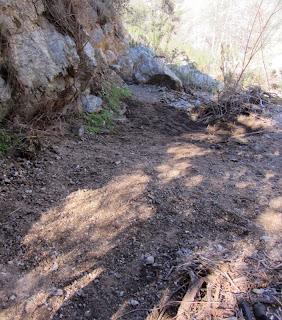 AFTER - Trail restored by the Trailbuilders, Fish Canyon Trail, Angeles National Forest