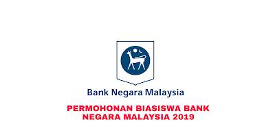 Permohonan Biasiswa Bank Negara Malaysia 2019 Online