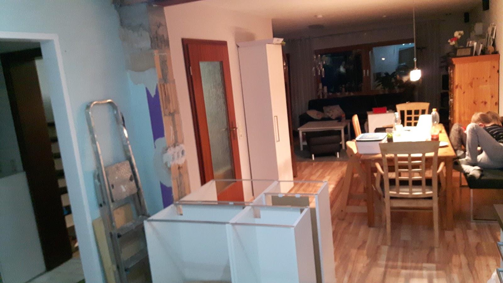 Die Stützen sind weg! | Bauprojekt - Wanddurchbruch zur Küche