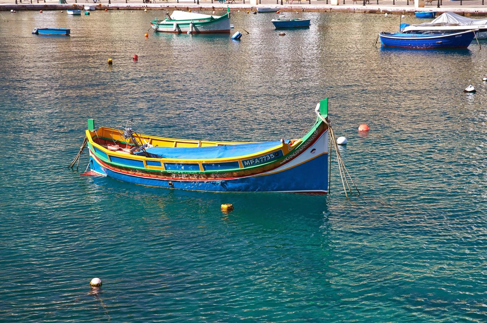 kolorowe łodzie na Malcie gdzie zobaczyć?