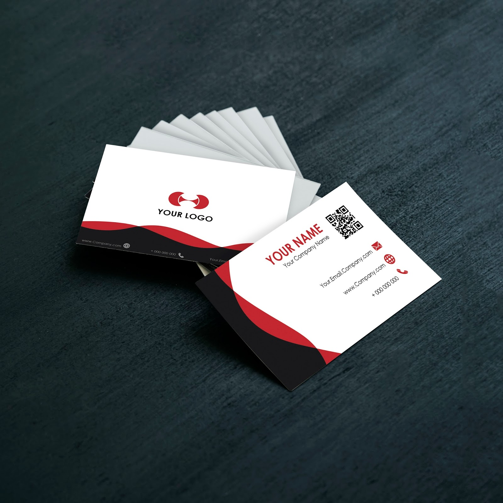 How To Create A Simple Business Cards With Adobe Illustrator ...