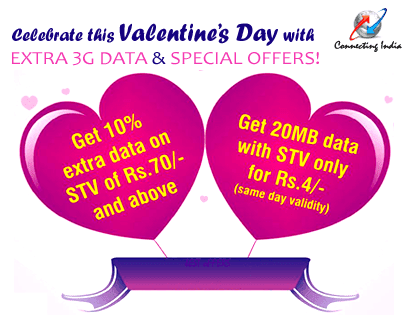 BSNL Valentines Day Gift Offer on 3G Recharge