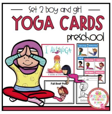 Yoga Cards Set 2 Boy And Girl Set Plus Large Posters Preschool Printables