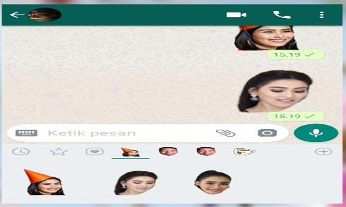 Cara Membuat Stiker Whatsapp Sendiri Pakai Foto Wajah