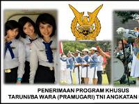 Penerimaan Taruni/Bintara Wara Pramugari TNI AU 2017