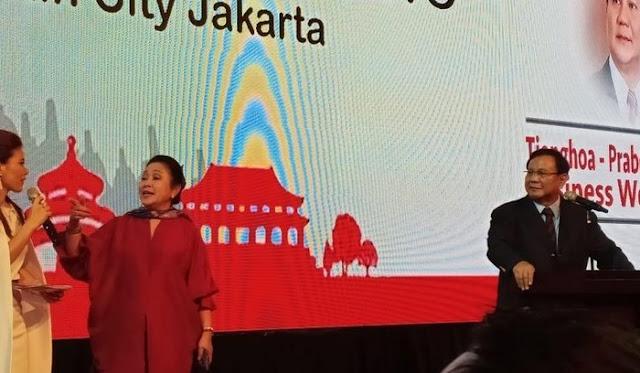 Prabowo: Tionghoa Sama Seperti Suku dan Etnis Lainnya