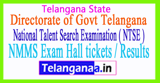TS NMMS Exam Hall tickets / Results Download