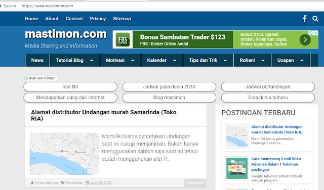 Belajar banyak dari Blogger sukses mastimon.com