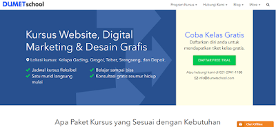 Kursus Internet Marketing, Desain Grafis, Website, DUMET School