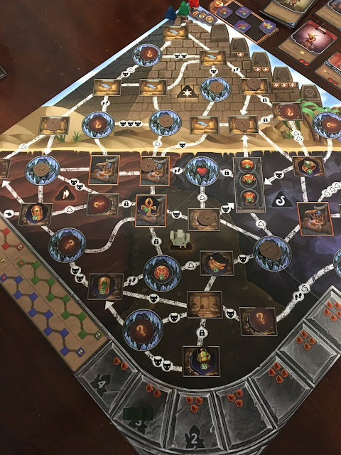 Clank! The Mummy's Curse Expansion Pyramid Board Setup