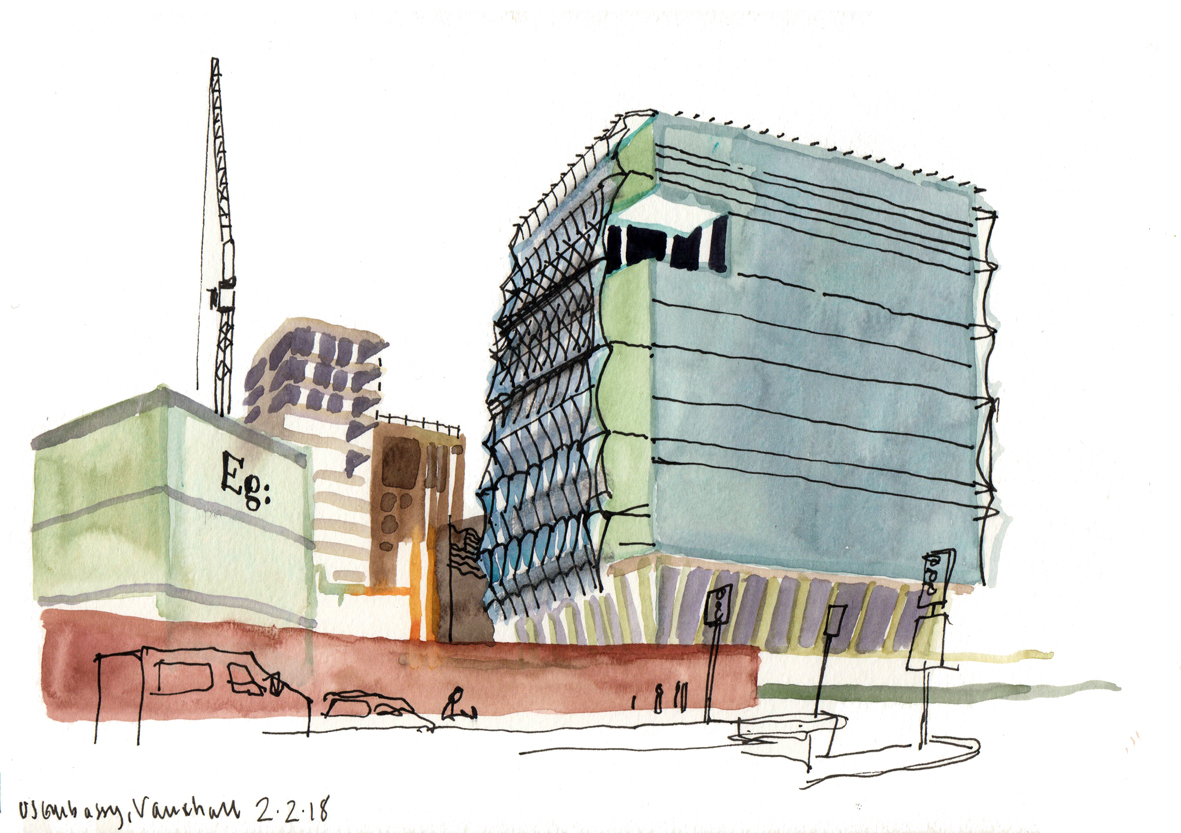 London\'s new US embassy: two views | Urban Sketchers