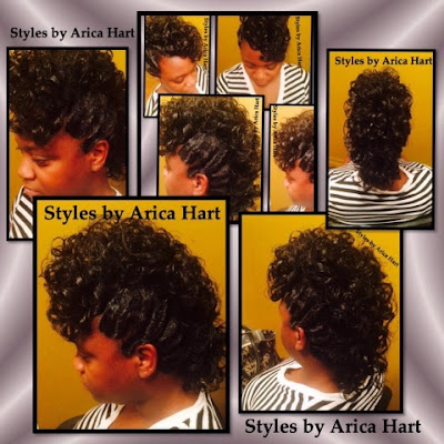 Mohawk, hairstyles with curls