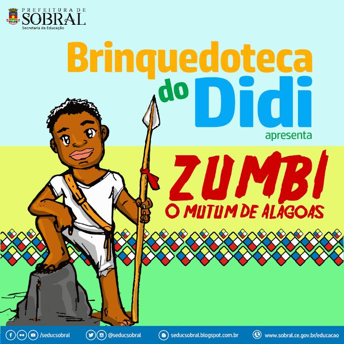 "Brinquedoteca Municipal aborda o tema ""Zumbi - O mutum de Alagoas"" no mês de novembro"