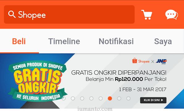 shopee gratis ongkir