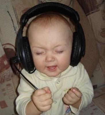 Foto divertida de bebe