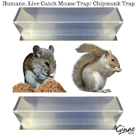 Humane, Live Catch Mouse Trap/ Chipmunk Trap