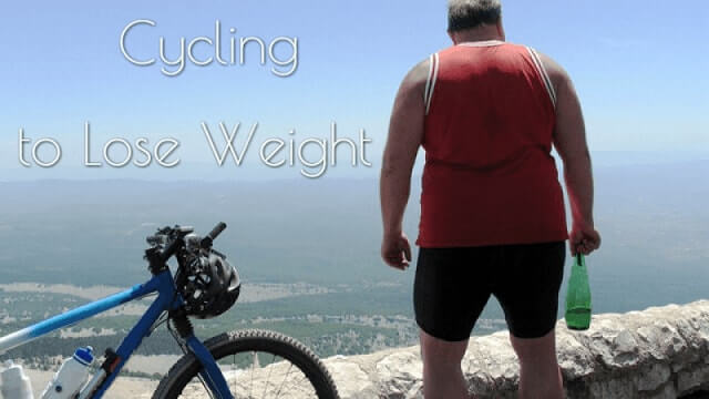 Obese man and a bicycle
