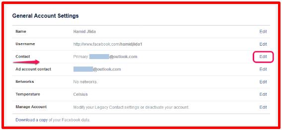 Change Email On Facebook