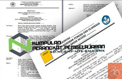 Contoh SK Pengangkatan Tata Usaha/Tenaga Administrasi Terbaru