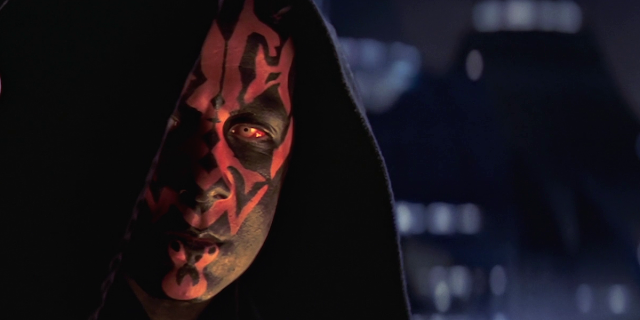 darth maul face close up