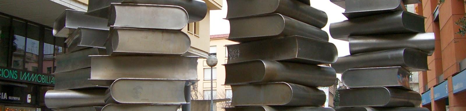 Detall del monument de Pia Crozet a l'escriptor Josep Pla (Girona) per Teresa Grau Ros