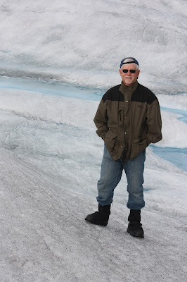 walking on glacier