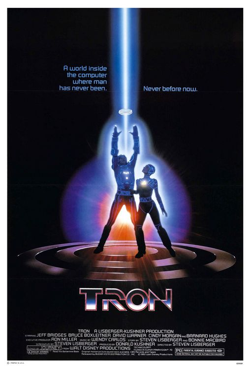 1982 Tron movie poster
