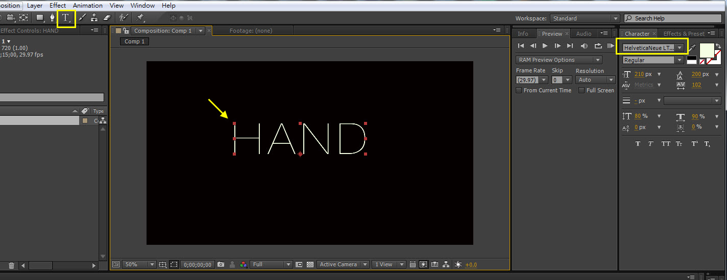 Hand line 01