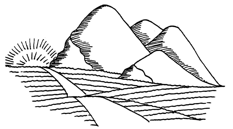 Gambar Mewarnai Gambar Mewarnai Pemandangan Gunung Terbaru