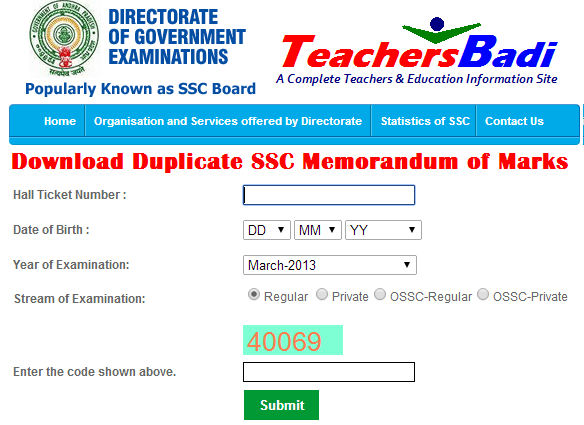 Download SSC Memorandum Marks Sheet from bseap org & bse