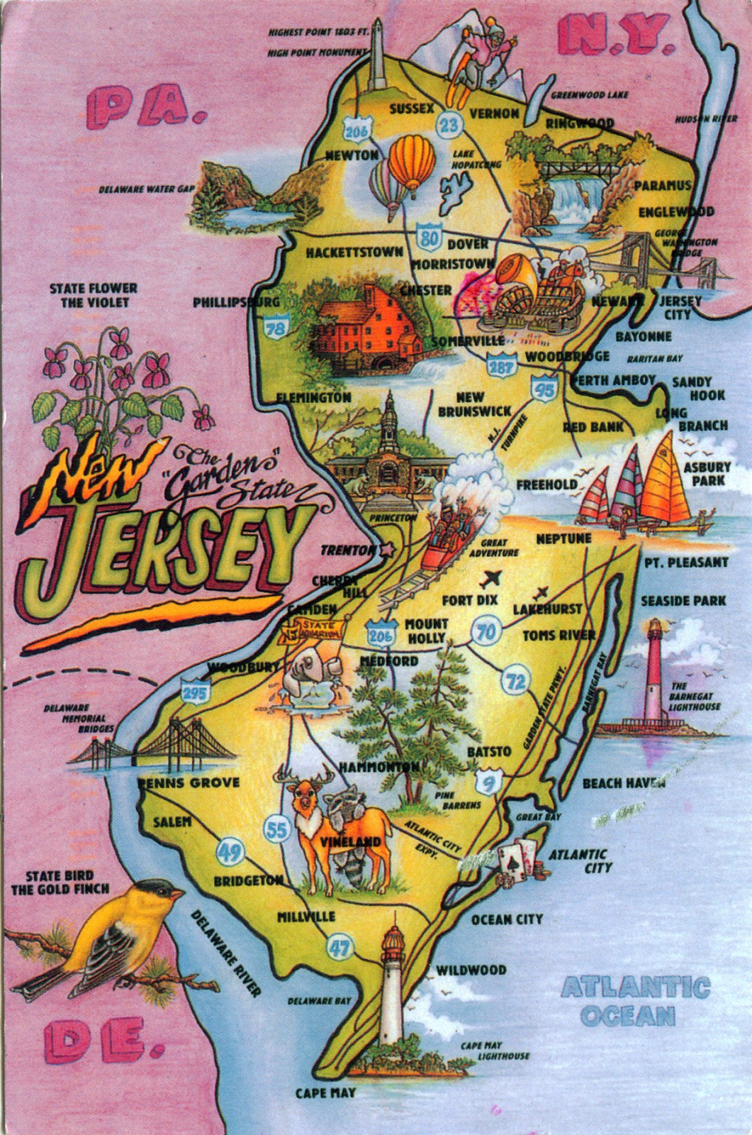 WORLD COME TO MY HOME UNITED STATES New Jersey New - 13 original us states map