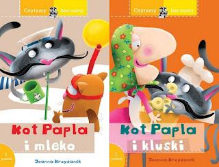 "Joanna Krzyżanek, ""Kot Papla i mleko"", ""Kot Papla i kluski"""